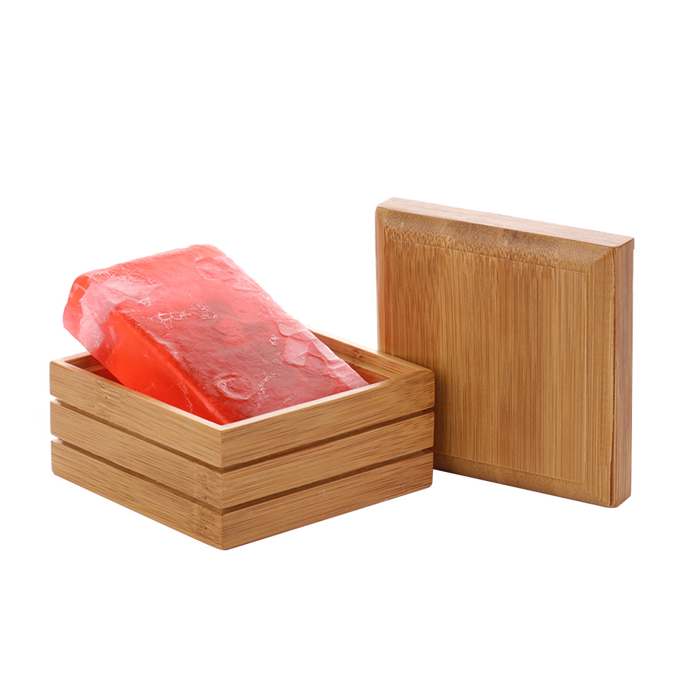Environmental Natural Bamboo Soap Dish Wooden Soap Tray Holder Storage Soap Rack Plate Box Container For Bathroom