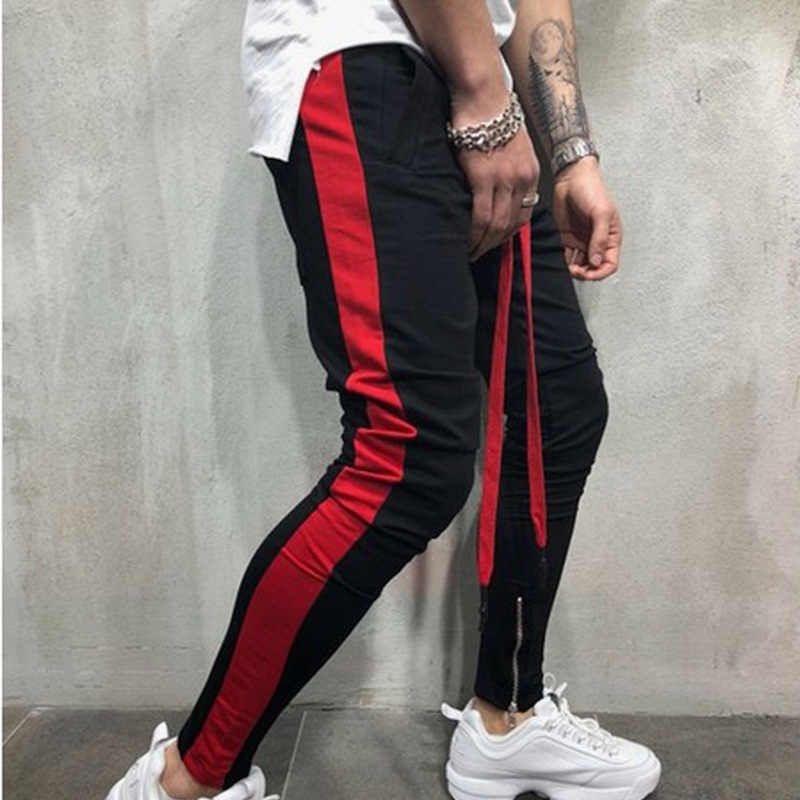 Man's Casual Pants Joggers Hip Hop Sweatpants Fashion Side Stripe Mens Pencil Pants Streetwear Male Pant Skinny Trousers For Men