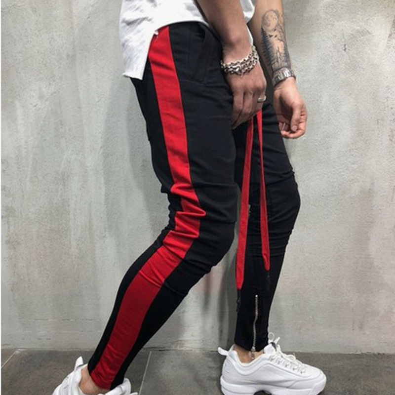 Man's Casual Pants Joggers Hip Hop Sweatpants Fashion Side Stripe Mens Pencil Pants Streetwear Male Pant Skinny Trousers For Men