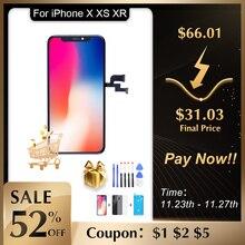 Elekworld Grade Für iphone X OLED XS MAX XR TFT Mit 3D Touch Digitizer Montage Keine Tote Pixel LCD Bildschirm ersatz Display