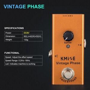 Image 5 - Kmise גיטרה אפקטים Phaser לגיטרה חשמלית DC 9V אחת מיני בציר Phaser פדאל