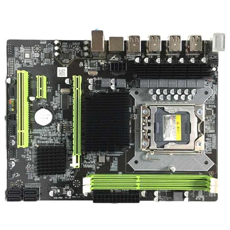 X58 Papan Utama LGA 1366 Ddr3 ECC/Reg Dukungan Memori untuk Xeon X5550 X5675 X5680 X5690 E5520 E5540 Server