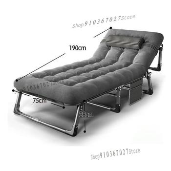 Temporary Folding Bed Single Bed Office Nap Recliner Nap Bed Nap Chair Simple Escort Camp Bed