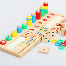 Math-Toys Logarithmic-Board Montessori-Materials Wooden Teaching Early-Education Learning-To-Count-Numbers