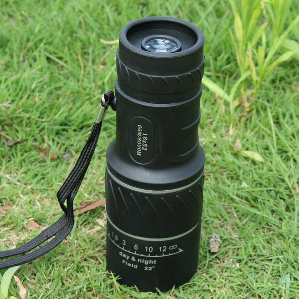 Двойной фокус телескоп 16x52 высокая мощность HD оптика охота телескоп низкий уровень освещения ночное видение для на открытом воздухе наблюдение за птицами