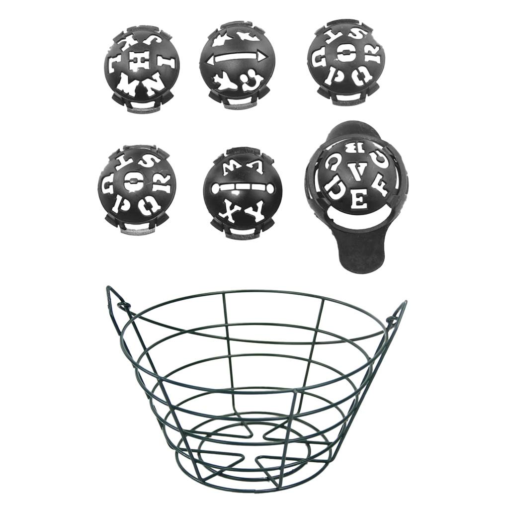 Large Capacity Premium Durable Golf Range Metal Bucket Basket Can Hold 30 Golf Balls & Free 6 In 1 Golf Ball Liner Marker Drawer