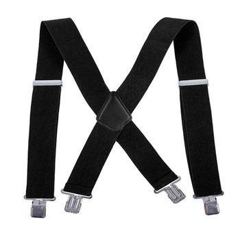Adjustable Elasticated Adult Suspender Straps Y Shape Clip-on Men's Suspenders Strap Clip-on for Pants Trousers Brace Belt
