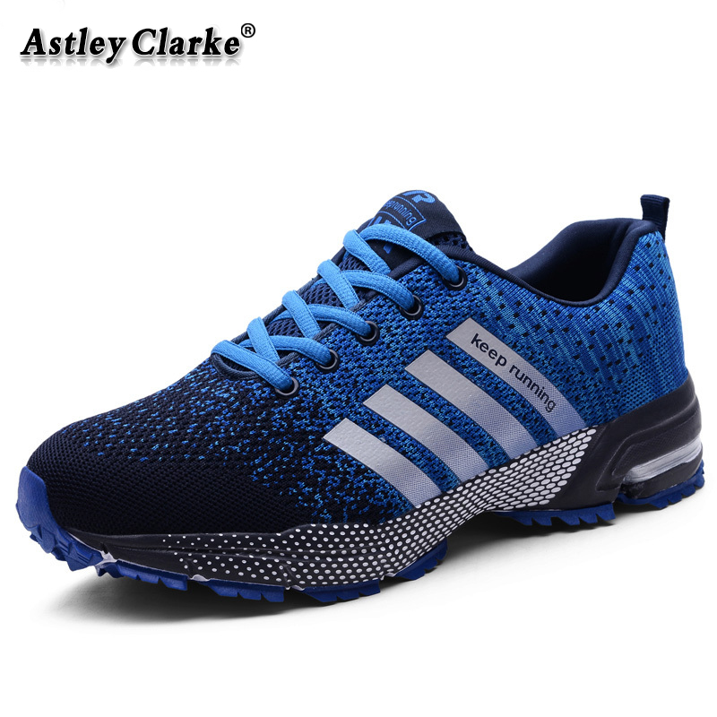 Running Shoes Men Non Slip Ultra Lightweight Sport Shoes Breathable Athletic Sneakers Jogging Gym Shoes Big Size 47 Blue Color
