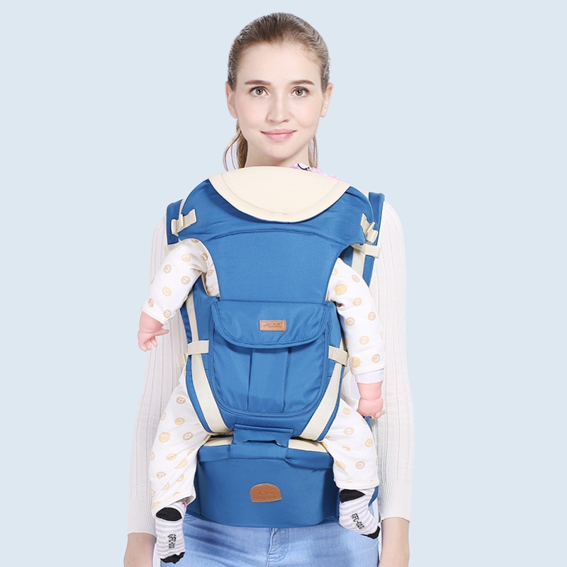 Breathable 9 In 1 Ergonomic Baby Carrier Infant Baby Backpack Hipseat Prevent O-type Legs Baby Carrier Wrap For Newborn 0-36M