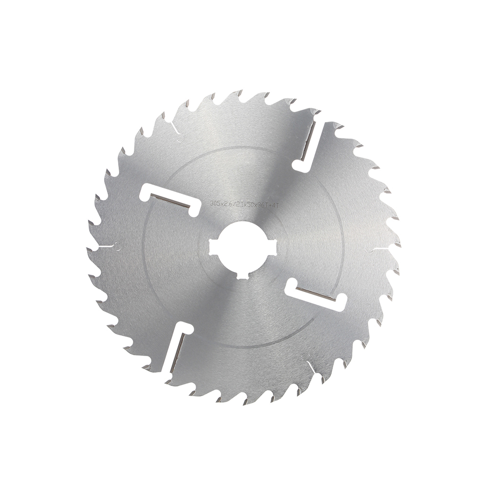 LIVTER carbide Circular Multi Saw Blade With Scraper Knives For Dry Wet Soft Hard Square Log Wood Cutting Machine