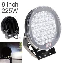 Focos LED redondos para coche, barra de luz LED de 225W, 45x, como foco de trabajo, para pesca en bote, foco de SUV