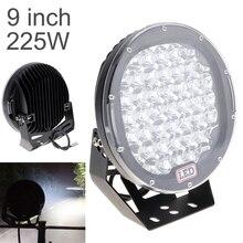 Круглый светодиодный прожектор s 225 Вт 45x, светодиодный автомобильный прожсветильник Тор в качестве рабочего освещения, прожсветильник для лодки, рыбалки, фонасветильник, светодиодный светильник s