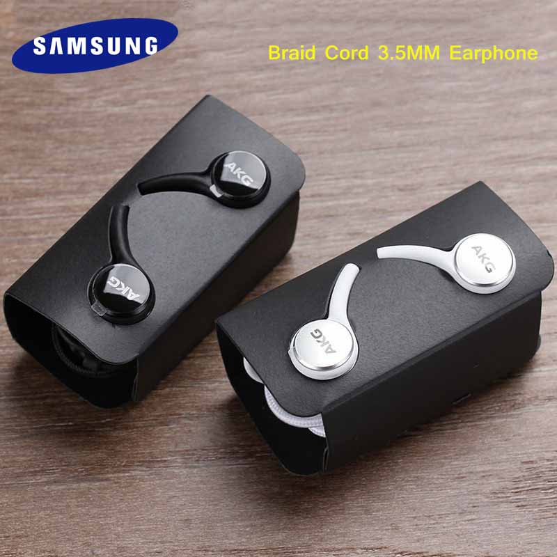 Original Samsung 3.5mm Earphones In-ear Wired Mic Volume Control Headset For AKG Galaxy S10E S10 S9 S8 S7 S6 Plus Note 8 9 A50