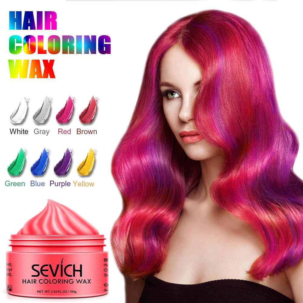 Sevich 100g moda tek kullanımlık saç rengi balmumu boya DIY hızlı kalıp çamur macun Salon saç şekillendirici renk krem TSLM2