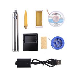 Image 1 - 5V 8W Mini taşınabilir kablosuz havya kalem kaynak seti şarj edilebilir pil havya ve USB lehimleme aracı #40