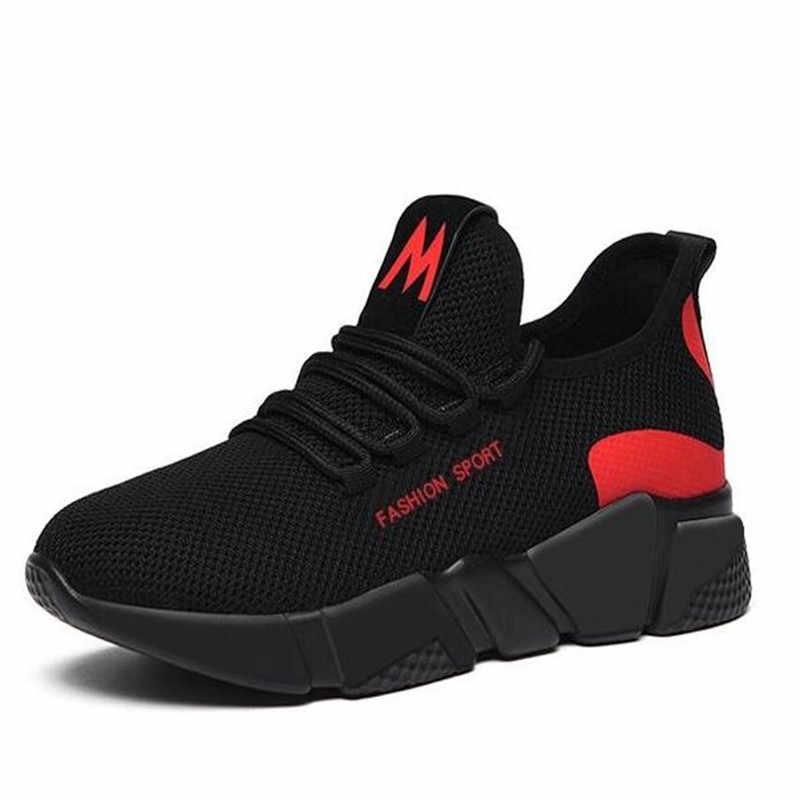 Mùa Xuân Năm 2019 Mới Nữ Thời Trang Thoáng Khí Nhẹ Đi Bộ Lưới Phối Ren Phẳng Giày Sneakers Nữ D336