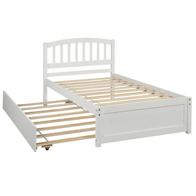 Twin Size Wood Frame Platform Bed 4