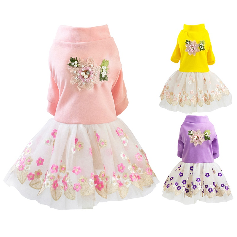 Summer <font><b>Dog</b></font> <font><b>Dress</b></font> <font><b>Wedding</b></font> <font><b>Dog</b></font> Clothes for Small <font><b>Dogs</b></font> Pet Clothing Pup Skirts Tulle Cat <font><b>Dresses</b></font> Yorkies Chihuahua Clothes image