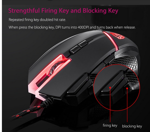 Image 3 - Motospeed V18 Gaming Wired Mouse 7 Button 4000DPI 8 grade LED Optical USB Precision Optical 9Keys Breathing Lamp with 1.8m Cable