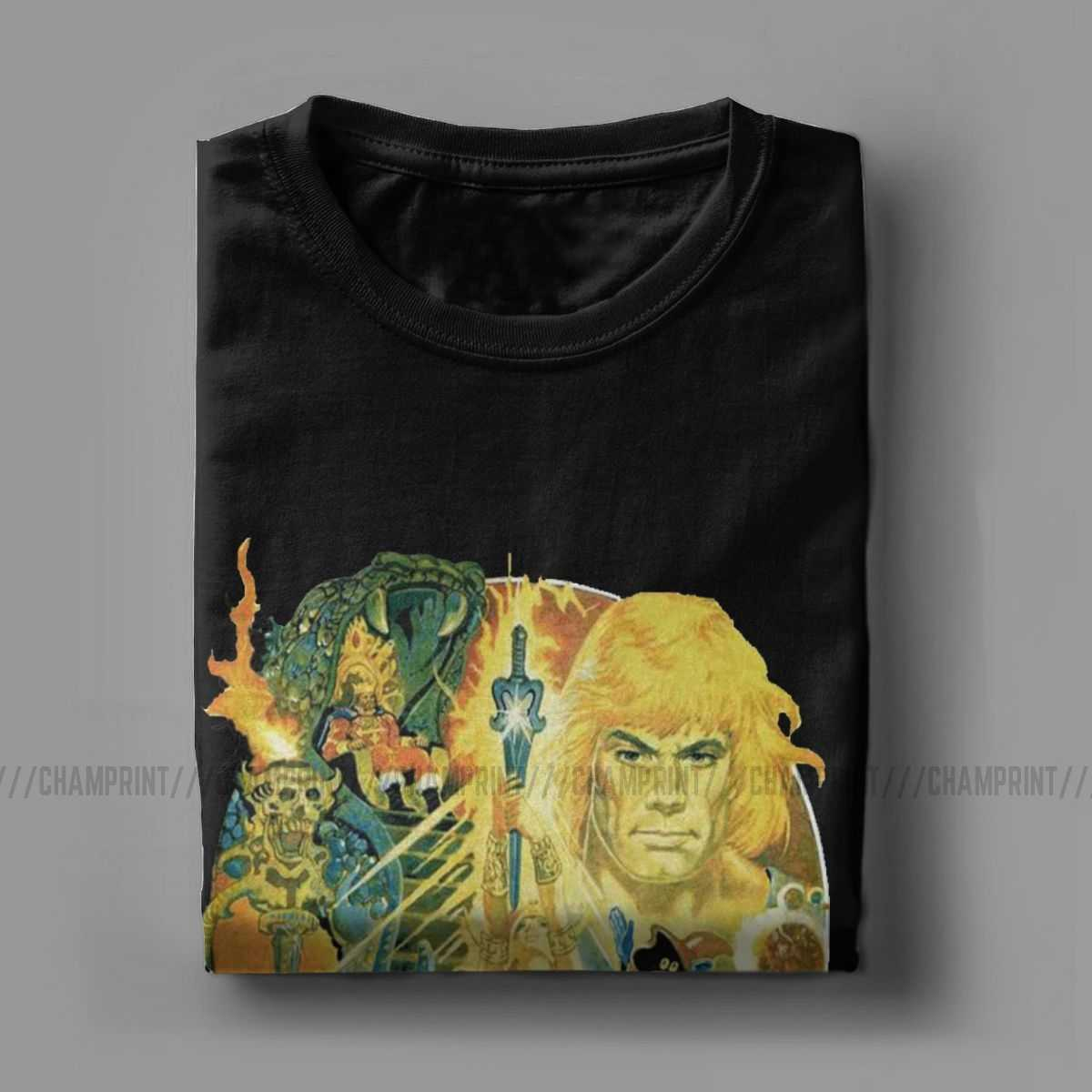 Segreto Della Spada He-Man Masters Of The Universe T Camicette T-Shirt da Uomo Skeletor 80s Lei -Ra Bestia Tee Manica Corta Grande Formato