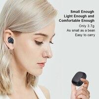 Mornlex mt01 tws bluetooth 5.0 fones de ouvido estéreo sem fio botão controle cancelamento ruído jogos esportes à prova dheadset água fone 6