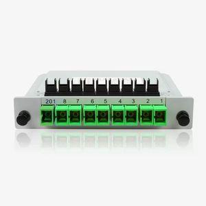 Image 4 - Darmowa wysyłka10pcs/lot kaseta typu wstawiania rozdzielacz światłowodowy Box 1x8 SC/APC kaseta typu wstawiania rozdzielacz światłowodowy