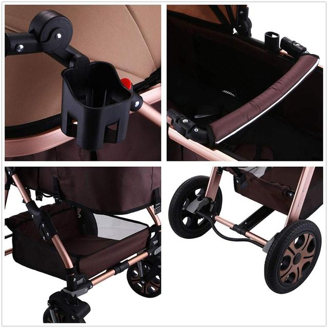 K-STAR cochecito de bebé 2 en 1, carrito de bebé portátil, carrito de bebé plegable, sistema de viaje de Vista alta ajustable