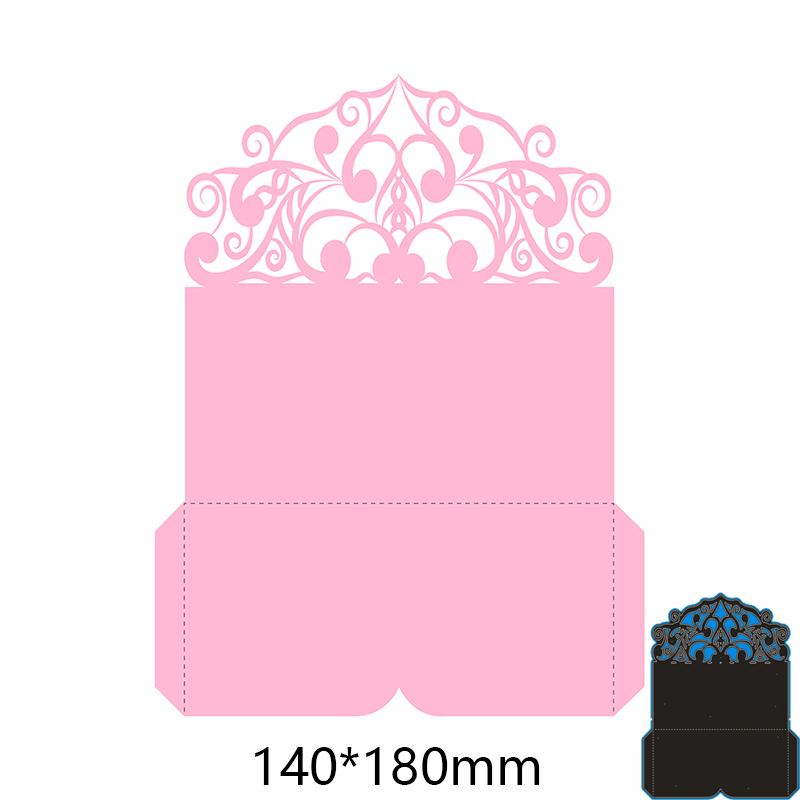 <font><b>140*180</b></font> mm irregular lace frame new Metal Cutting Dies for decoration card DIY Scrapbooking stencil Paper Album template Dies image
