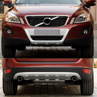 Car Styling Accessories 1pcs for Volvo XC60 2009 2013 ABS Chromed Front & Rear Bumper Skid Protector Guard Plate
