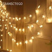 Festão led guirlanda cortina luzes da corda luzes de natal decoração interior ao ar livre a pilhas rua guirlanda para decoração