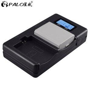 Image 2 - PALO LPE5 LP E5 LP E5 chargeur de batterie LCD double fente USB chargeur pour Canon EOS 450D 500D 1000D baiser X3 baiser F rebelle Xsi caméra