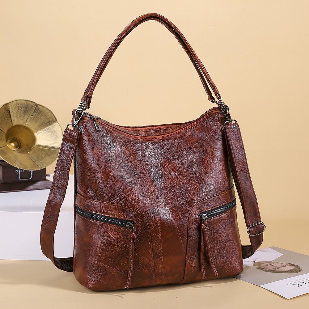 Brand Luxury Ladies Handbag Vintage Soft Leather Female Crossbody Bag For Women Sac A Main Designer Tote Bag Casual Shoulder Bag