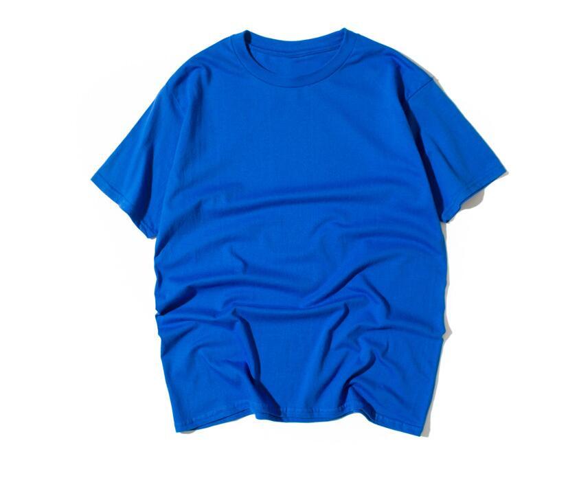 Мужская bxl летняя новая Однотонная футболка с круглым вырезом и коротким рукавом Мужская модная Молодежная Футболка с открытыми плечами хлопковый топ свободный - 3