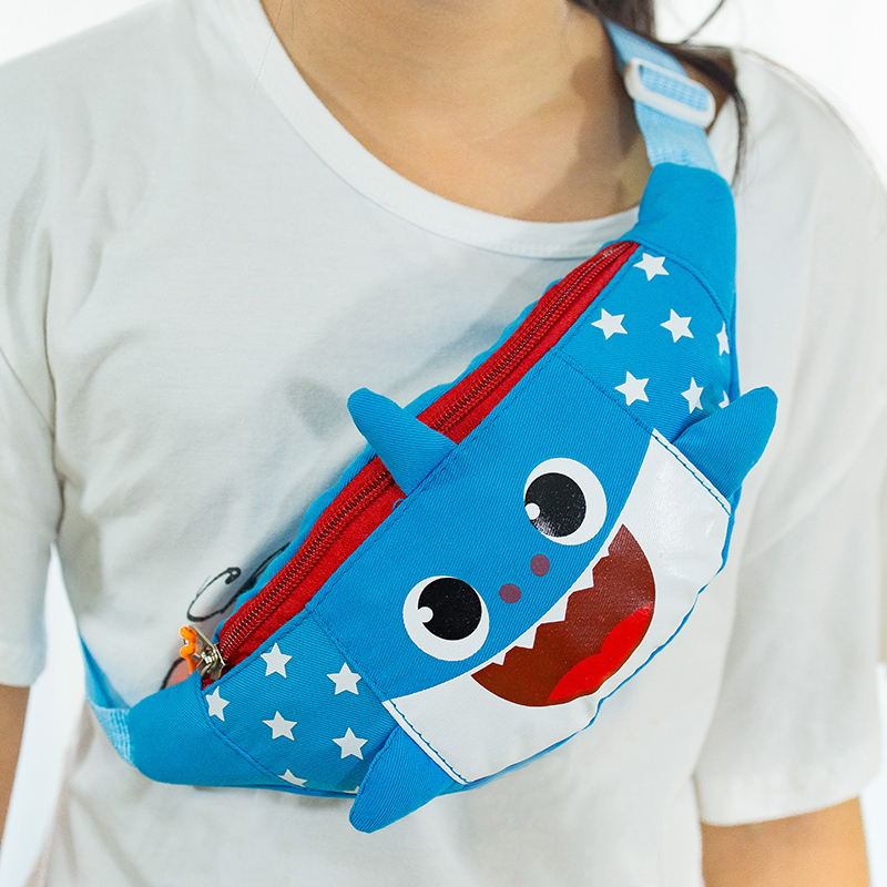 Children Waist Packs Cartoon Chest Bag Fanny Pack Kid Boy Girl Money Wallet Waist Bags Shark Belt Bag Crossbody Mini Waist Pack