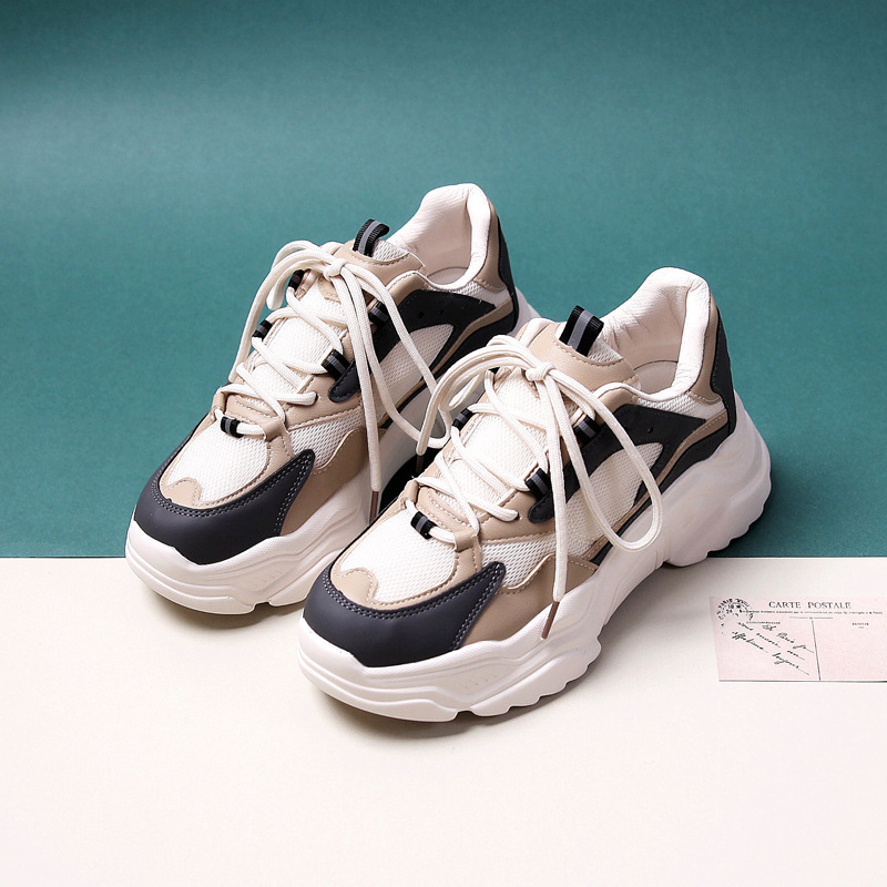 Woman Casual Shoes 2020 New Spring Fashion Casual Breathable Leather Air Mesh Shoes Women Casual Fashion Sport Shoes Sneakers