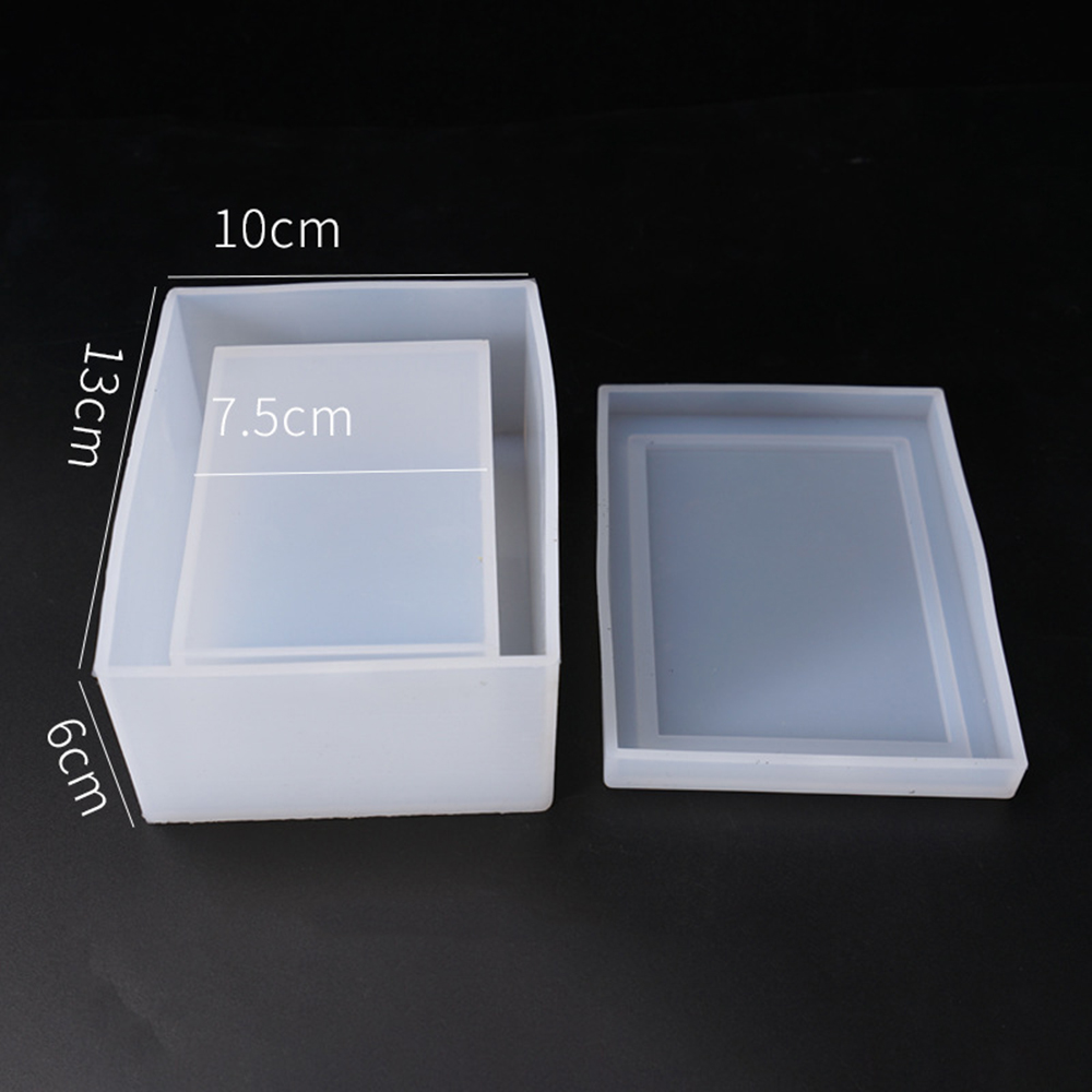 Dried Flower Resin Decorative Craft Diy Crystal Decor Supplies Making Silicone Mold 3D Square Tissue Box 13*10*6cm