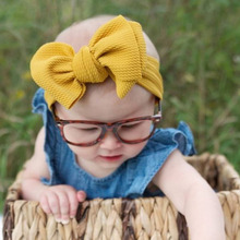 Adjustable Big Bow Baby Headband hairbands Accessories Knot Headbands Over Sized Turban Newborn Head Band Girl