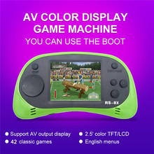 лучшая цена Handheld Games Console Support Connecting TV 2.5 Inch Built-in 42 Games RS-8X Lithium Battery Edition A1