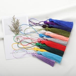 New 10pcs 8cm Polyester Silk Tassel Brush Pendant Earring Charm Satin Tassel DIY Jewelry Making Findings Handmade Craft Supplier
