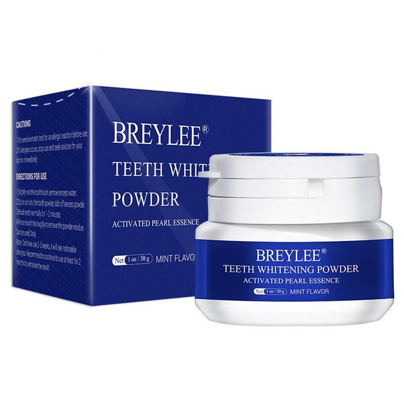 Breylee Teeth Whitening Powder Toothpaste Oral Hygiene White Toothbrush Cleaning Remove Plaque Stains Bleaching Dental Tools