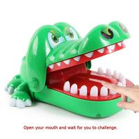 Children Gags Toy Large Bite Crocodile Toy Funny Party Switching Luck Testing Games Practical Jokes 16cm Dentist Bite Finger Toy