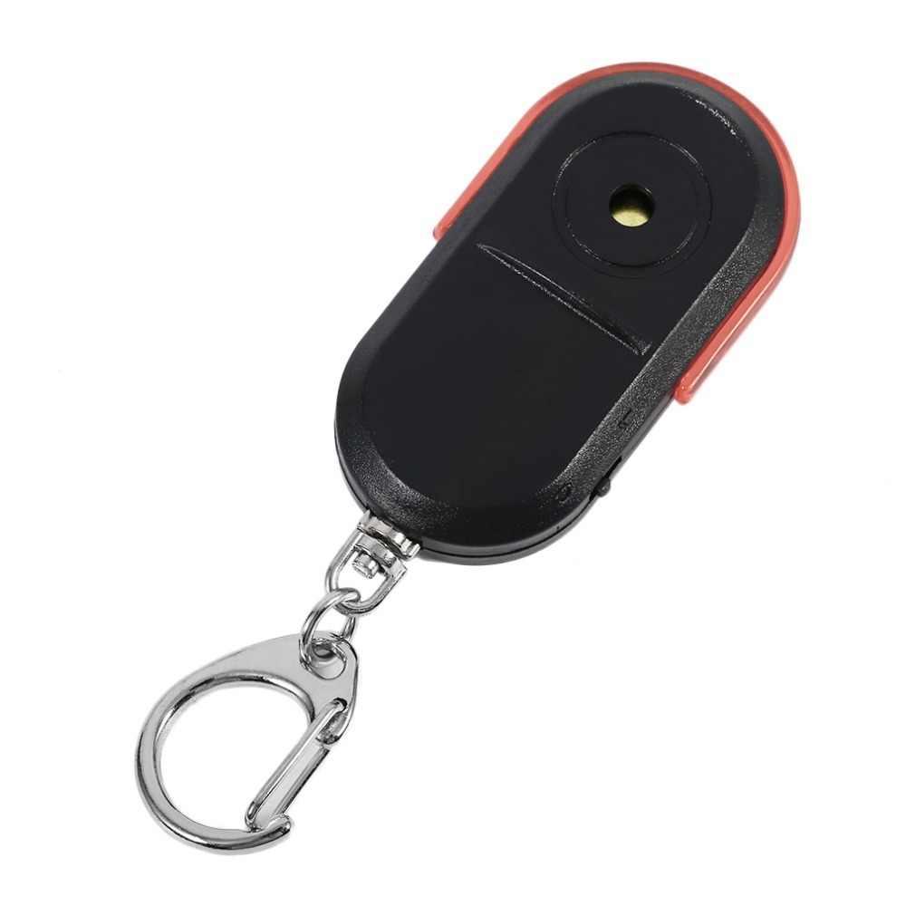 ขนาดพกพาปี Anti-Lost Alarm Key Finder ที่มีประโยชน์เสียงนกหวีด LED Light Locator Finder Keychain