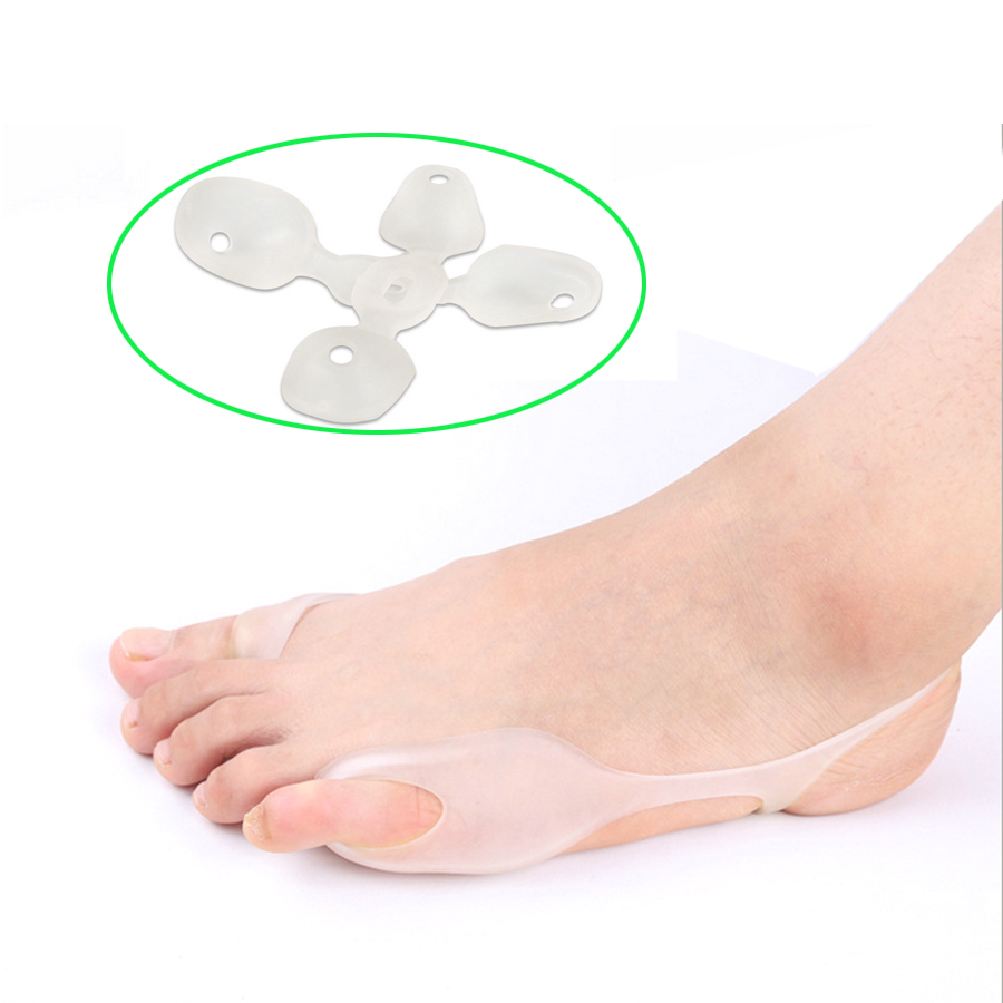 2Pcs Transparent Silicone Gel Bunion Big Toe Separator Overlapping  Protection Corrector Hallux Valgus Foot Massager Z26101