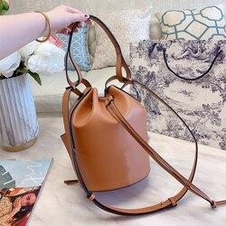 Sasa роскошная сумка для женщин ведро кожаная сумка