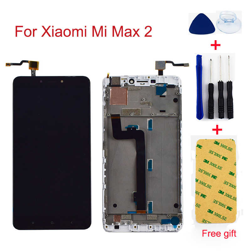 For Xiaomi Mi Max 2 LCD Max2 LCD Display Touch Screen Glass Assembly With Frame For Xiaomi Mi Max 2 Max2 LCD Replcement Screen