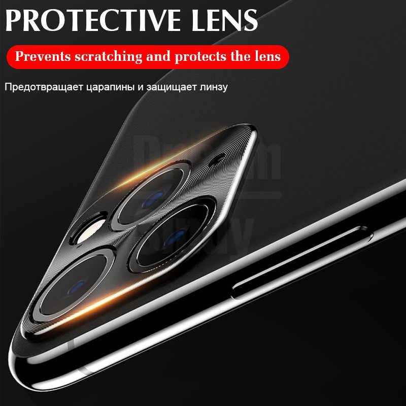 Housse de protection complète caméra étui pour iphone 11 Pro X XR XS Max 8 7 6s Plus placage boîtier en métal de luxe lentille protecteur Film verre