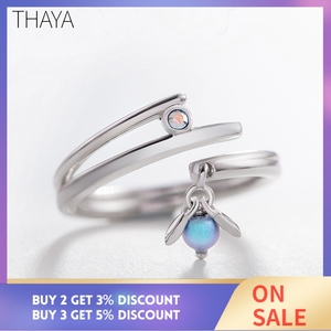 Image 2 - Thaya Midsummer Nights Dream Design Rings Vintage Colored Pearls S925 Sterling Silver Jewelry Ring For Women