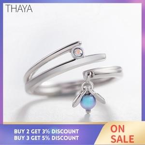 Image 2 - Thaya Sommernachtstraum Design Ringe Vintage Farbige Perlen S925 Sterling Silber Schmuck Ring Für Frauen