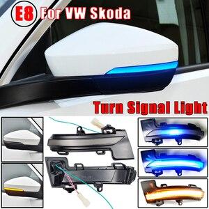 Image 2 - 2Pcs แบบไดนามิก Blinker ไฟเลี้ยว LED Light สำหรับ Skoda Octavia Mk3 A7 5E สำหรับ VW T Roc Troc T Cross 2014 2015 2017 2018 2019 2020