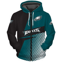 Philadelphia fashionable american football eagles zipper hoodie